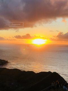 自然,風景,海,空,屋外,太陽,ビーチ,雲,水面,海岸,光,ハワイ,ご来光