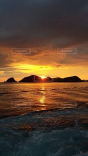 自然,風景,海,空,屋外,太陽,ビーチ,雲,夕暮れ,水面,光,日の出