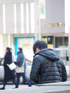 建物,屋外,後ろ姿,都会,人物,道,人,東京都,通り,コード