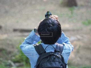 男性,カメラ,後ろ姿,男子,撮影