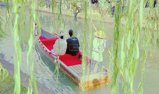舟,後ろ姿,川,結婚式,人物,背中,人,後姿,結婚,岡山,倉敷,美観地区