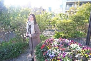 女性,風景,公園,花,屋外,人,お散歩,ガーデン