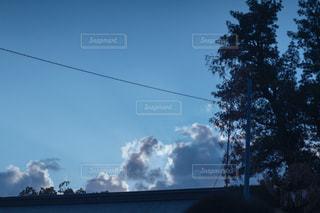 空の雲のクローズアップの写真・画像素材[2457779]