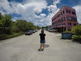 空,晴れ,道路,景色,爽やか,道,人,青い,インスタ,インスタ映え
