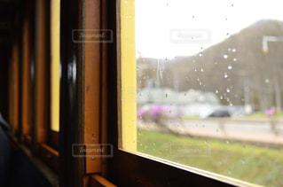 雨,電車,窓,水滴,列車,雨上がり,梅雨,蒸気機関車,雨の日,雨の日フォト