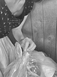 ビニール袋のクッションの写真・画像素材[3305905]