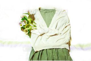 緑コーディネートの写真・画像素材[2106384]