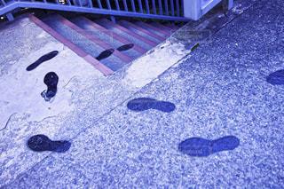 足跡の階段の写真・画像素材[2168290]
