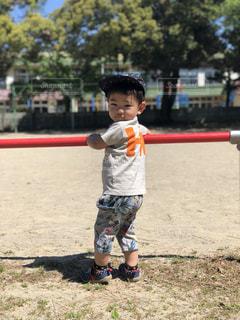 子ども,公園,夏,晴天,洋服,Tシャツ,シャツ,2歳,キャップ,夏服,半袖