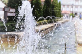 公園,青空,水,水滴,水しぶき,噴水