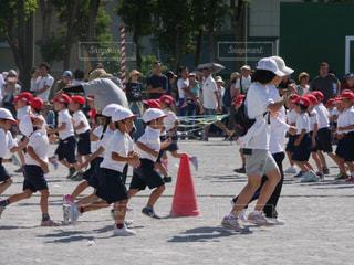 運動会,小学校,一眼レフ,集合,赤白