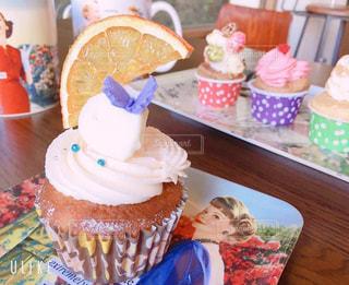 カフェ,かわいい,カップケーキ,机,パステルカラー,おしゃれ,ファンシー