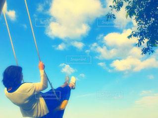 空,雲,ブランコ,風