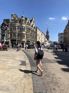 空,建物,後ろ姿,イギリス,街並,留学,オックスフォード