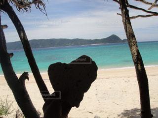 自然,海,空,屋外,砂,ビーチ,水面,影,ハート型,ハート,木陰,奄美大島,暑い日,インスタ映え,ハートの影,ハートの珊瑚