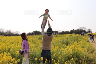 家族,空,屋外,菜の花,高い高い,2019,2019年