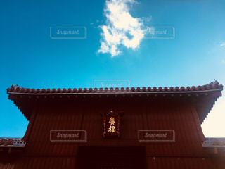 空,建物,屋外,雲,日光,沖縄,ハート,日中