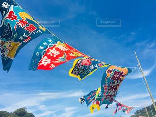 カラフル旗の写真・画像素材[2358785]