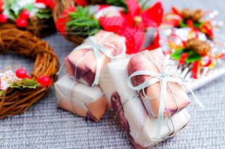 クリスマスイメージ ミニチュアのプレゼントの写真・画像素材[2824829]