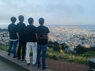 男性,後ろ姿,アメリカ,街,背中,サンフランシスコ,カリフォルニア