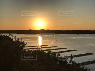 自然,風景,海,空,屋外,太陽,朝日,景色,夜明け,正月,お正月,三重,日の出,グラデーション,新年,初日の出,伊勢,伊勢志摩,志摩市