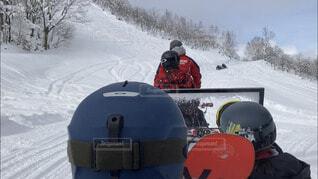 空,冬,雪,屋外,晴れ,樹木,スキー,運動,スキー場,スノーボード,斜面,ウィンタースポーツ,岐阜県,アクティビティ,スノーモービル,朴の木平スキー場,山頂タクシー,ほおのき平スキー場,スノータクシー