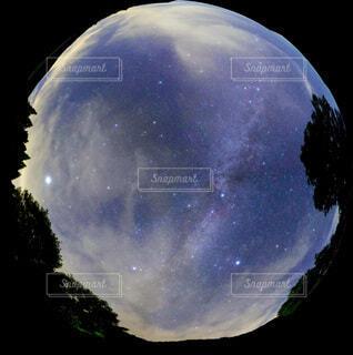 夏の夜空を360度写しましたの写真・画像素材[4755134]