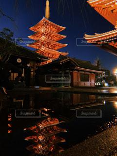 雨の日の五重の塔の写真・画像素材[2215672]