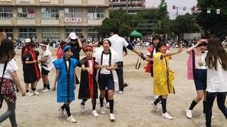 子ども,5人以上,スポーツ,屋外,人,パレード