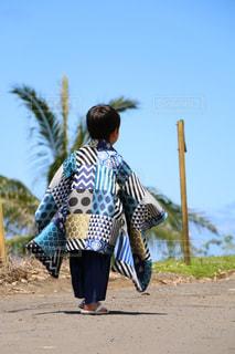 子ども,屋外,後ろ姿,子供,人物,背中,人,後姿,こども,ハワイ,Hawaii,七五三,ハワイ島,男の子,袴