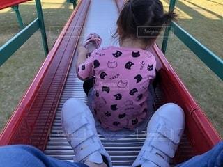 公園,靴,人物,背中,人,滑り台