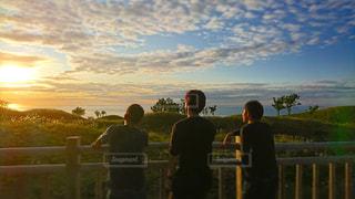 夕日,後ろ姿,北海道,青春,インスタ映え
