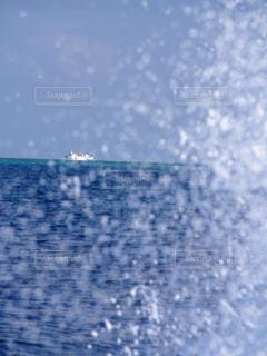 海,水滴,船,水しぶき