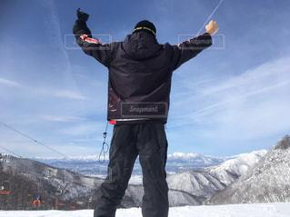 冬,後ろ姿,山,スキー,スノボ,インスタ,インスタ映え