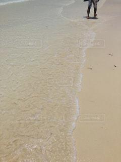 浜辺を歩く人々のグループの写真・画像素材[2359605]