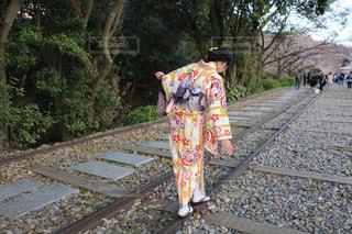 カメラ,カメラ女子,京都,後ろ姿,オシャレ,着物,蹴上インクライン,インスタ映え