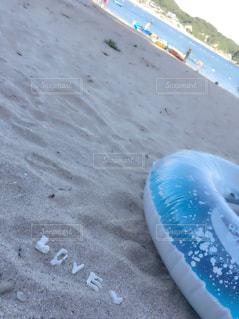 海,LOVE,青空,ハート型,ハート,浜辺,石,白浜,ハートの石