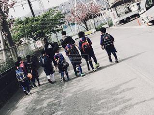 屋外,背中,男の子,明日も頑張ろう,サッカー少年,未来の日本代表,たくましい背中