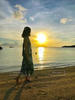 夕日の見える場所の写真・画像素材[2393097]