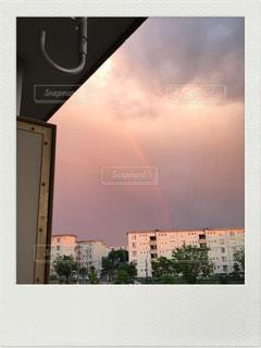 空,夏,雨,雲,虹,標識,カラー,クラウド,夕立,ファブリック