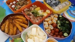 ランチ,お弁当,カラフル,果物,野菜,運動会,彩り