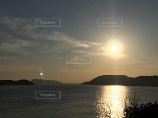 自然,風景,海,空,夕日,屋外,太陽,夕暮れ,水面,光