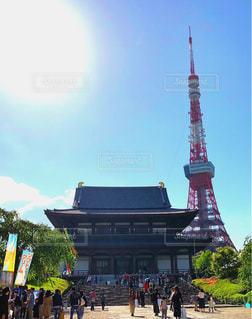 風景,東京タワー,東京,晴れ,鮮やか,増上寺,天気,お散歩,令和