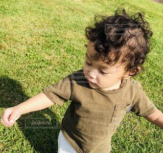 公園,芝生,屋外,緑,散歩,光,人,イベント,赤ちゃん,レジャー,男の子,お散歩,1歳,ライフスタイル,お出かけ