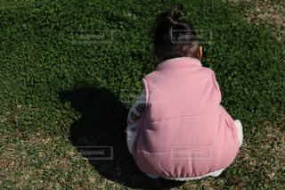 ピンク,後ろ姿,子供,女の子
