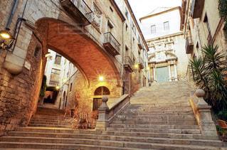 スペイン ジローナの階段の写真・画像素材[2148986]