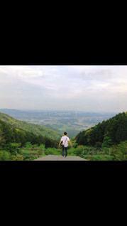 自然,風景,夏,屋外,田舎,山,洋服,癒し,Tシャツ,夏服,半袖