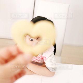 女の子,ハート,クッキー,こども,目,型抜きクッキー