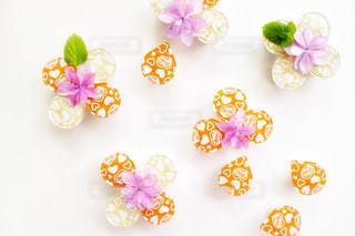 ネスレブライトと花の写真・画像素材[1259761]