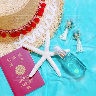 太陽に魅せるジェル香水!旅行や海の持ち物の一つにの写真・画像素材[1192107]